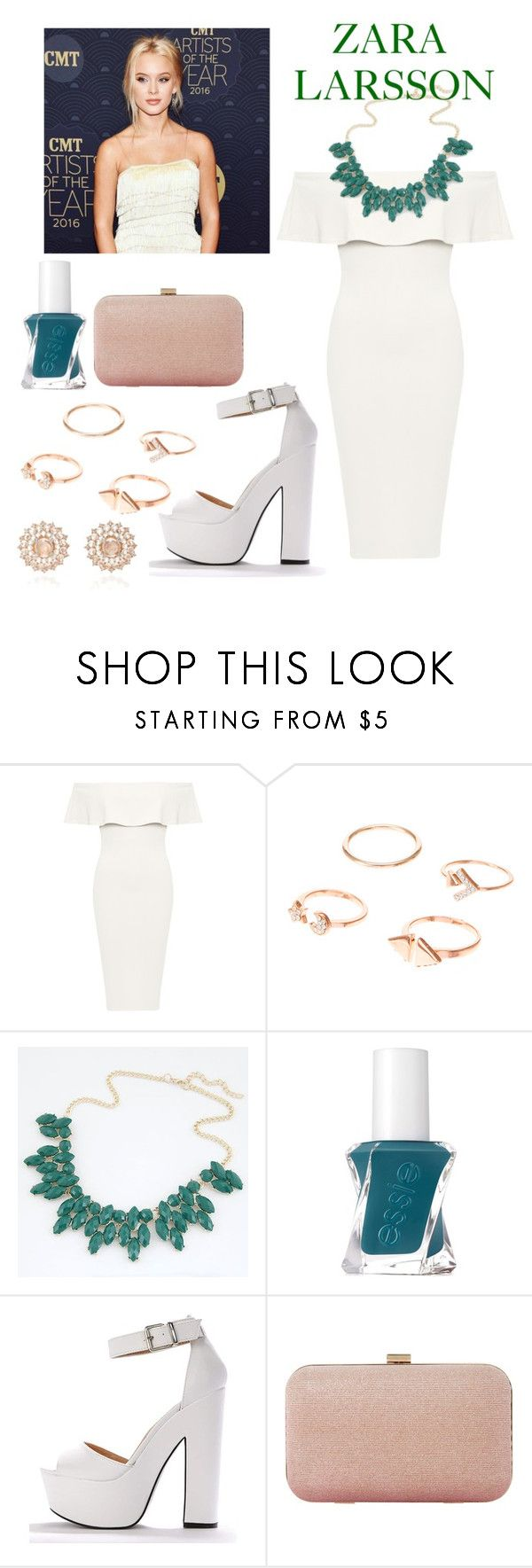 """""""Zara Larsson"""" by katykatcara ❤ liked on Polyvore featuring WearAll, Essie, Dune, Nam Cho, celebrity, Fan, zara and singer"""
