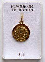 Gold First Holy Communion Chalice Medal.