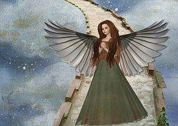 Angel, Wings, Art, Sky, Angel Wings