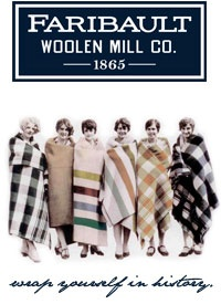 Faribault Woolen Mill Co. for blankets. LOVE these!! Not too expensive either!