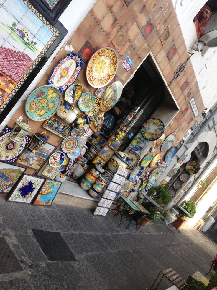 Photo - Ceramics galore, Vietri sul Mare, Salerno, Italy.   2015.  Vietri sul Mare is one of the most convenient places to start the gorgeous Amalfi Coast drive.