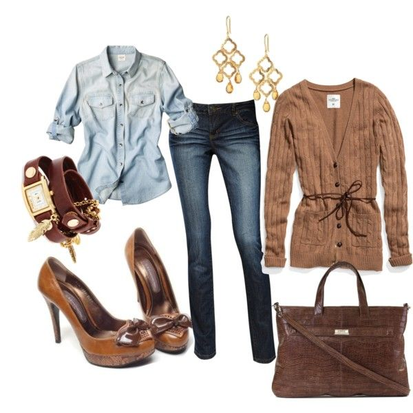Chocolate Inspired, created by #fleurdelove on #polyvore. #fashion #style H&M Dorothy Perkins
