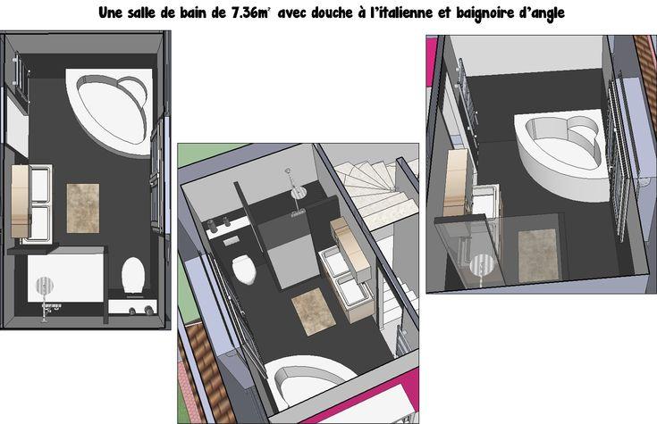 Oltre 25 fantastiche idee su baignoire d angle douche su for Salle de bain avec douche italienne et baignoire d angle