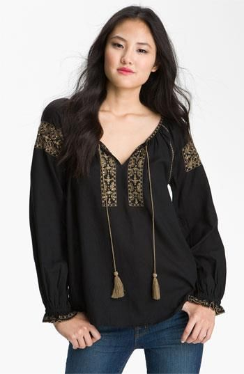 romanian blouse black version style