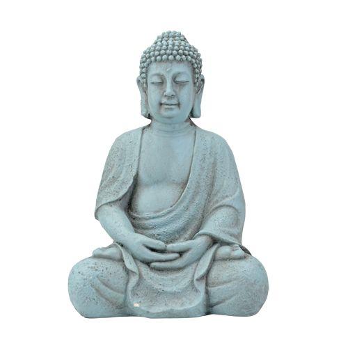 EUR 5,99 - beeld boeddha zittend clayfibre div.klr