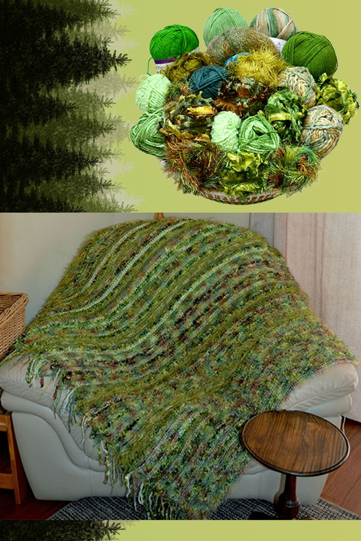 Forest Greens blanket kit available from www.wooljunction.co.za