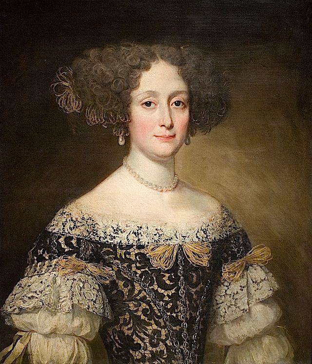 ▴ Artistic Accessories ▴ clothes, jewelry, hats in art - Jacob Ferdinand Voet | Anna Caffarelli Minuttiba, 1675