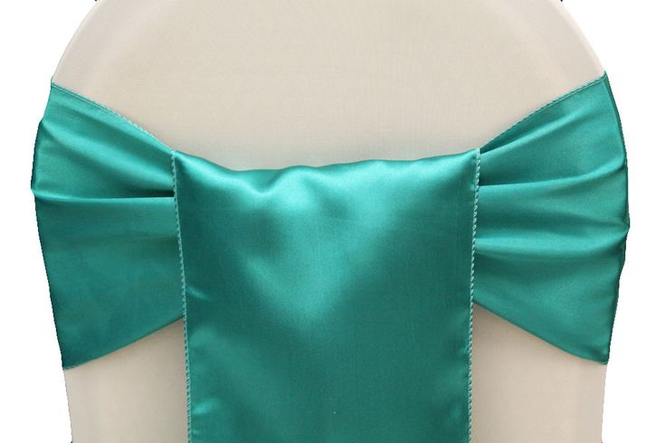 100pcs Tiffany Blue  Wedding Satin Chair Sash,Satin Sash for Weddings Events &Banquet &Party Decoration-in Sashes from Industry & Business o...