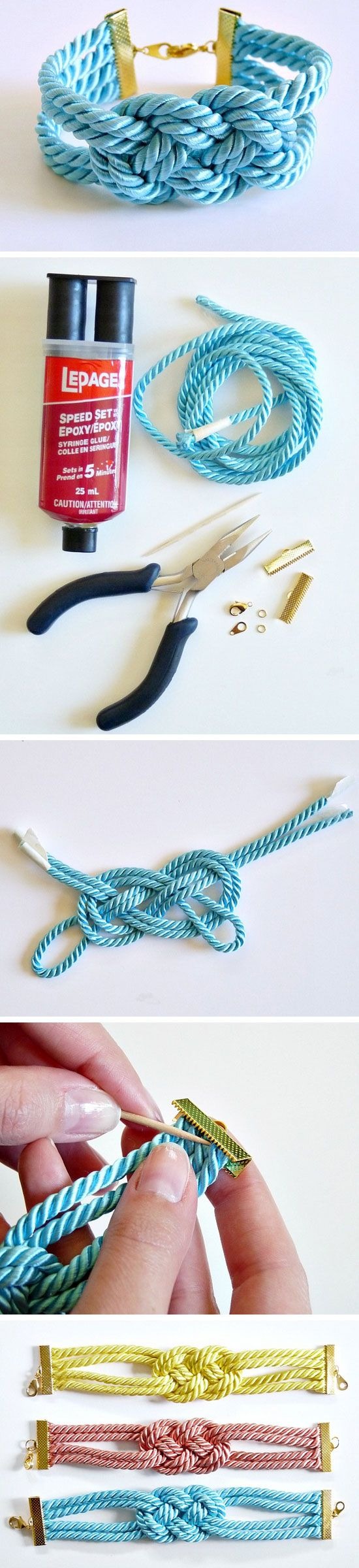 Easy DIY Knotted Cord Bracelet   Click Pic for 22 DIY Christmas Gift Ideas for Mom   Handmade Christmas Gifts for Grandma