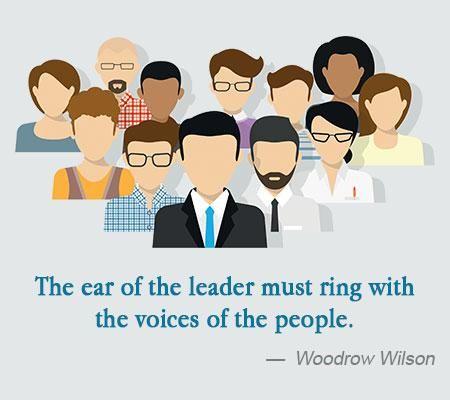 Leader Quote of Woodrow Wilson