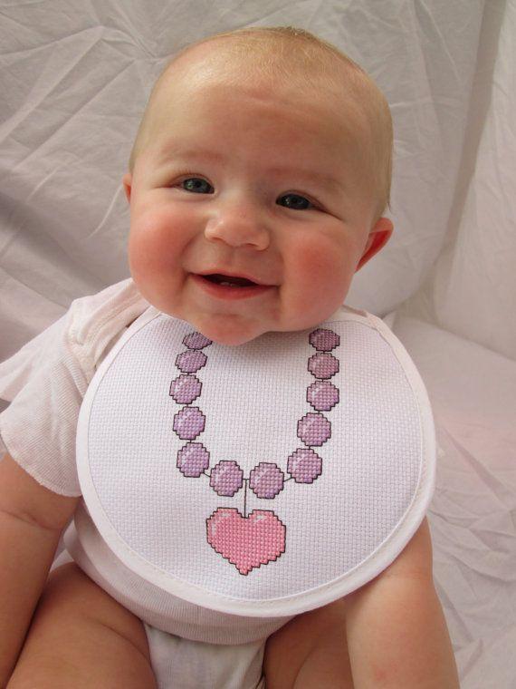 Necklace Baby Bib Cross Stitch Pattern Embroidery