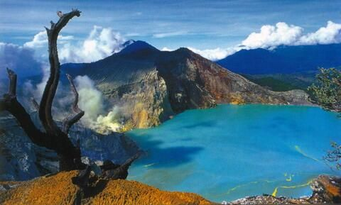 View of Mount Ijen, East Java, Indonesia #VisitIndonesia