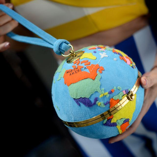 Olympia Le-Tan Globe Clutch: Sittin� On Top of the World
