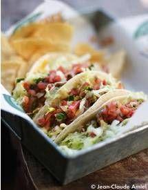 Tacos de poisson, maïs, crevettes pour 6 personnes - Recettes Elle à Table - Elle à Table