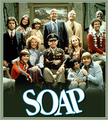 """Soap (TV Series 1977–1981). The show was created as a night-time parody of daytime soap operas, presented as a weekly half-hour prime time comedy. Similar to a soap opera, the show's story was presented in a serial format and included melodramatic plot elements such as alien abduction, demonic possession, murder, and kidnapping. In 2007 it was listed as one of Time magazine's """"100 Best TV Shows of All-TIME."""""""