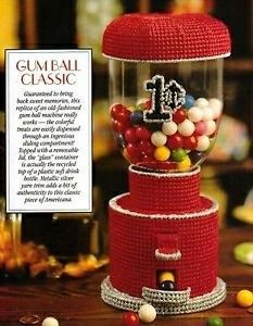 Gifts Galore in Plastic Canvas Book 4 LA Leaflet 1567, Classic Gumball Machine