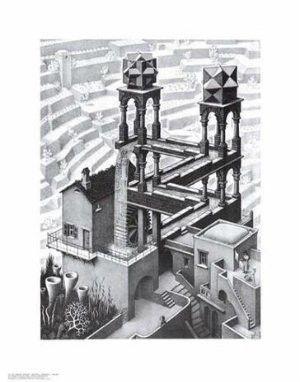 """M. C. Escher - """"Waterfall"""" (11x14) - BAW00015"""