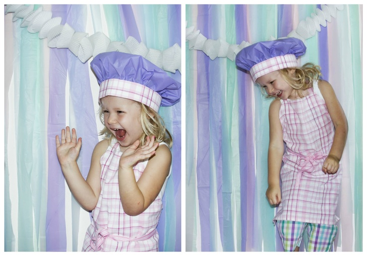 Ashlee Rae Printables: {Party Details} Plastic Tablecloths as backdrop and hat