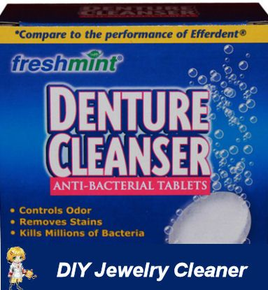 DIY Jewelry Cleaner with Denture Tablets -  http://thegardeningcook.com/diy-jewelry-cleaner/