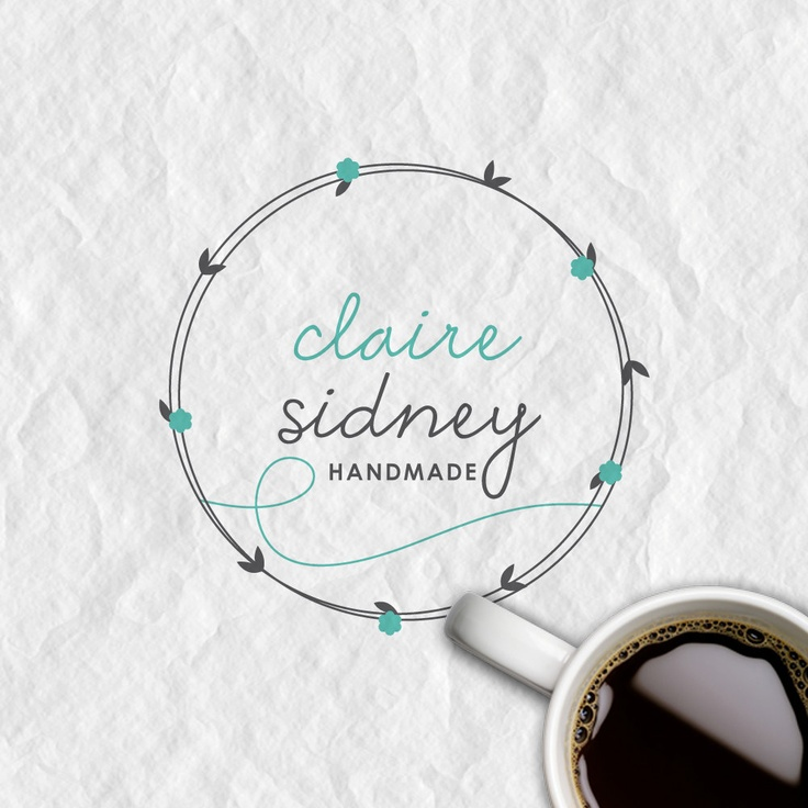 Custom Premade Logo and Watermark, Handwritten Font, Boutique Logo, Shop Logo, Vintage Logo. $19.99, via Etsy.