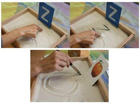 Para Ajudar Na ESCRITA Créditos: Autismus Arbeitsmaterial Fonte: http://bloghoptoys.es/idea-de-utilizacion-alrededor-de-la-bandeja-descubrim...