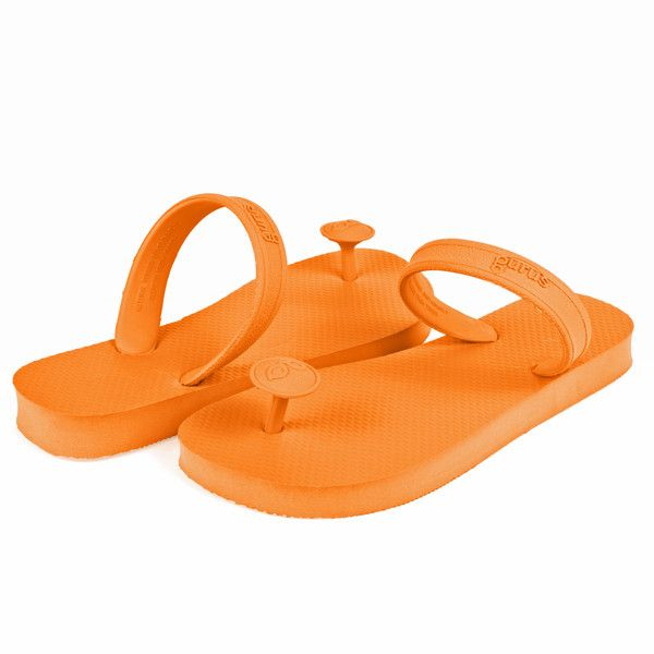 These neon orangeflip-flopswill be a hit at your summer music festival.You'll stand out from the crowd withthe freshest sandals at any event.