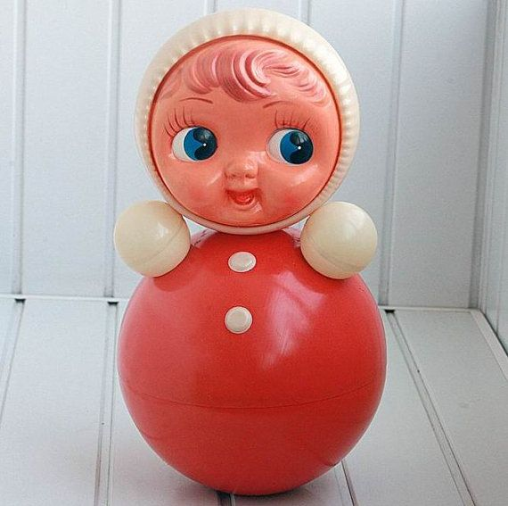 I've had one of these when I was less than a year old!  Vintage Roly Poly Ding Doll  Nevalyashka  1970s  by cherryshop, $54.00