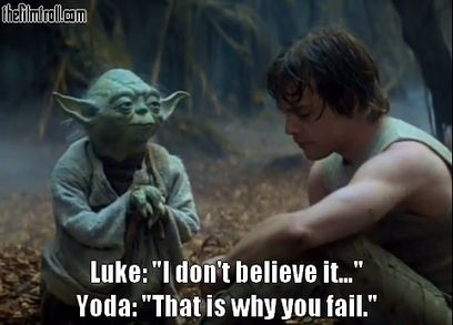 Famous Star Wars quote - The Filmtroll