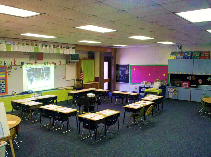 Classroom Arrangement Ideas : This is a neat way of arranging the desks for small