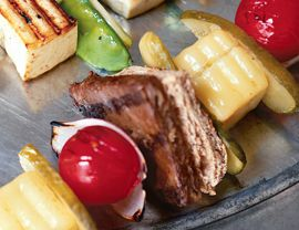 Mini Burger Brochettes- 4th of July recipe for the veg people.