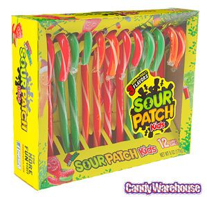 Just found Sour Patch Kids Candy Canes: 12-Piece Box @CandyWarehouse, Thanks for the #CandyAssist!