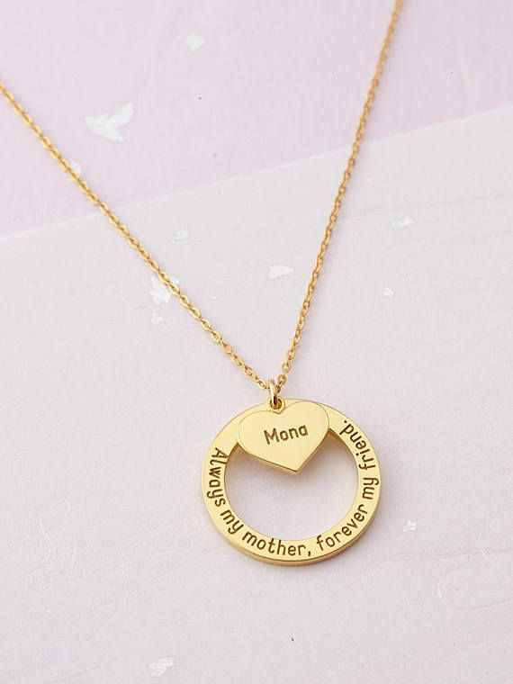 kids necklace daughter gift personalized jewelry Initial D Necklace