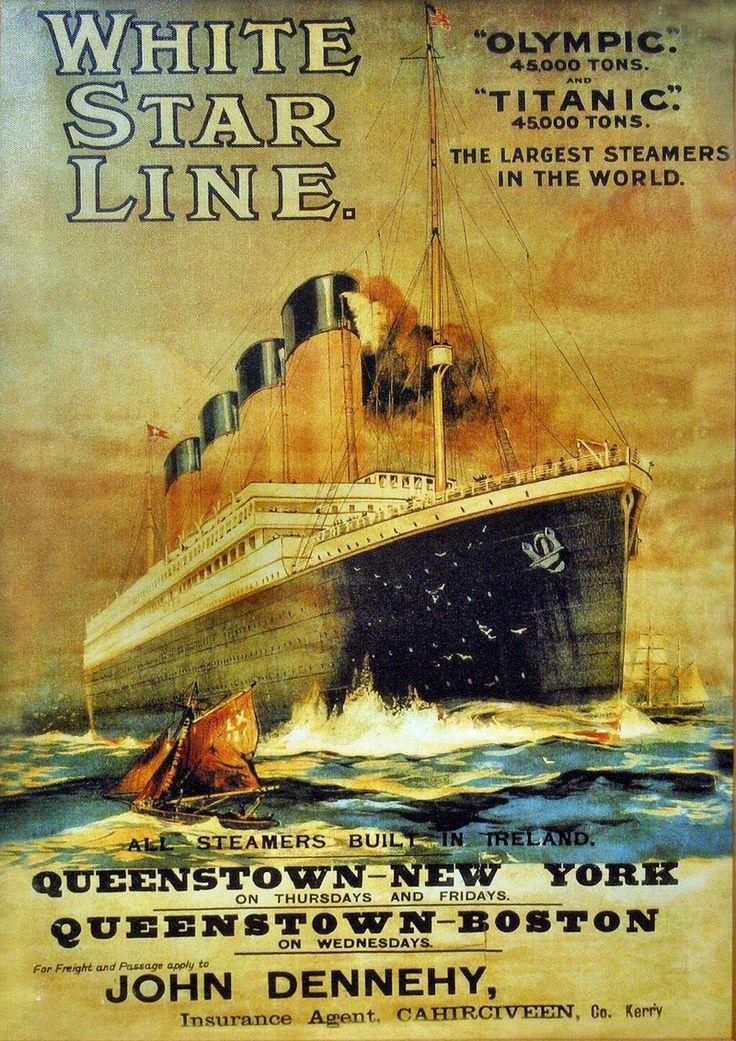 Titanic lapbookVintage Posters, White Stars, Picture-Black Posters, United Study, Rms Titanic, History Channel, Titanic Posters, Vintage Travel, Travel Posters