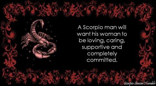 When a scorpio man loves you