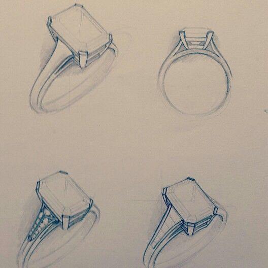 Emerald Diamond or Tanzanite Ring Design