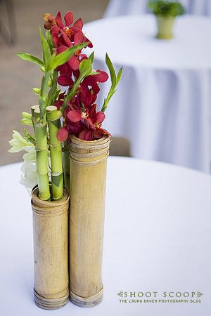 Floral bamboo centerpiece