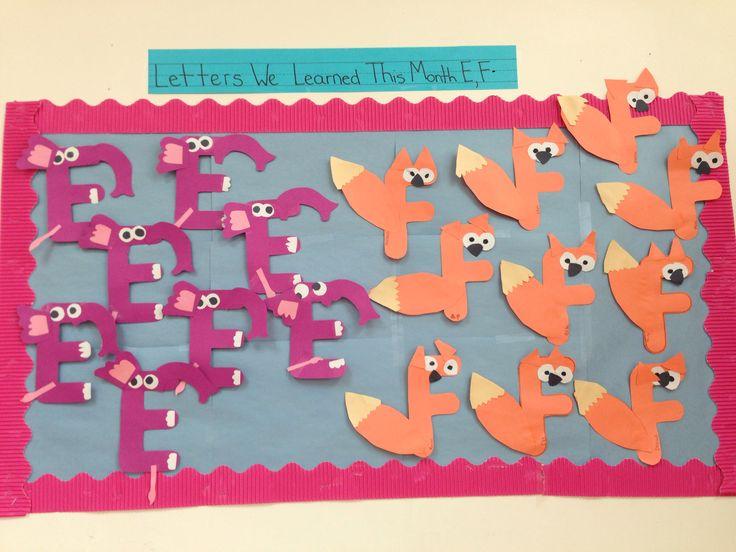 letters for bulletin boards templates - preschool letters we 39 ve learned bulletin board ideas
