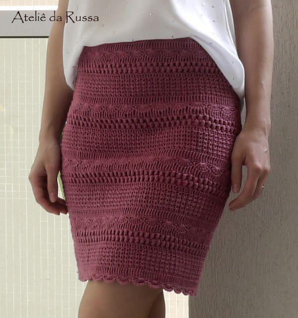 Saia croche Crochet skirt Юбка крючком