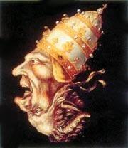 Шапка папы римского с надписями