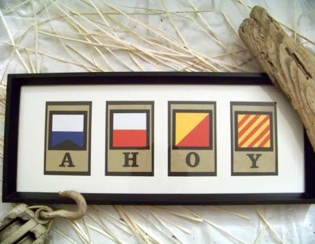 International Maritime Signal Flags Custom Message Wall