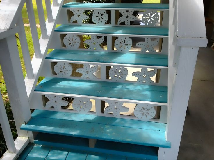 Decorative nautical gingerbread. Designs include Sand Dollar, Starfish, Sea Horse, Mermaid, Compass Rose, Captain's Wheel, Seashells, Shorebirds and more. We also make decorative PVC porch railing panels, balusters, running trim.