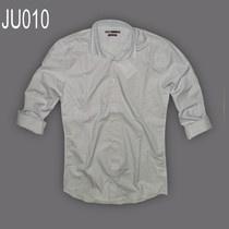 Áo sơ mi nam sọc hiệu Jules màu xanh dương nhạt, sọc nhỏ dạng fitted ( ôm eo), 100% cotton, tay dài.