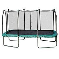 Buy Trampolines 14 x 8 Rectangle Trampoline and Enclosure (Green) only $370
