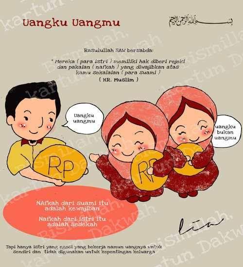 Nafkah dari suami itu kewajiban Nafkah dari istri itu sedekah :)