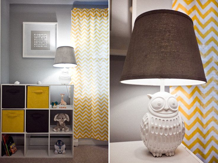 love this lamp.... when the baby is born you could paint it girly or boyish :)