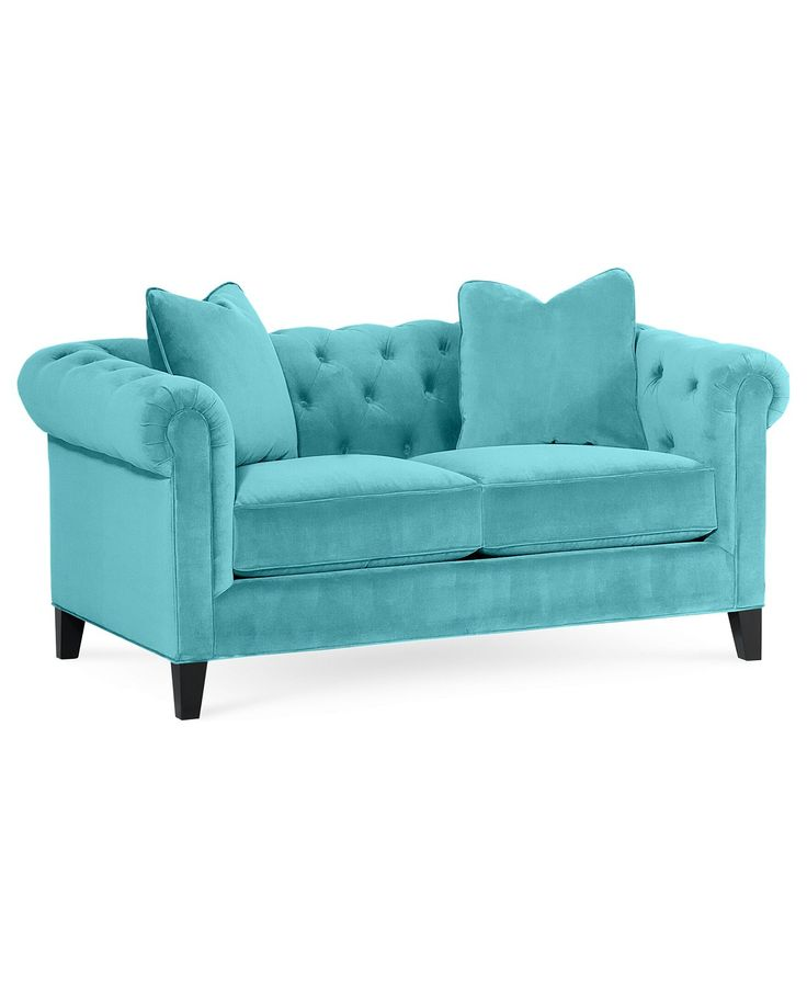 "Buying A Couch Online: Rayna Fabric Loveseat, 66""W X 38""D X 30""H: Custom Colors"