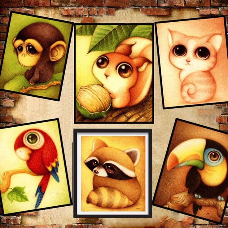 Mosaic needlework 5D diy diamond ✓ painting cartoon animal ヾ(^▽^)ノ picture for child cross stitch round rhinestone drill embroidery patchMosaic needlework 5D diy diamond painting cartoon animal picture for child cross stitch round rhinestone drill embroidery patch