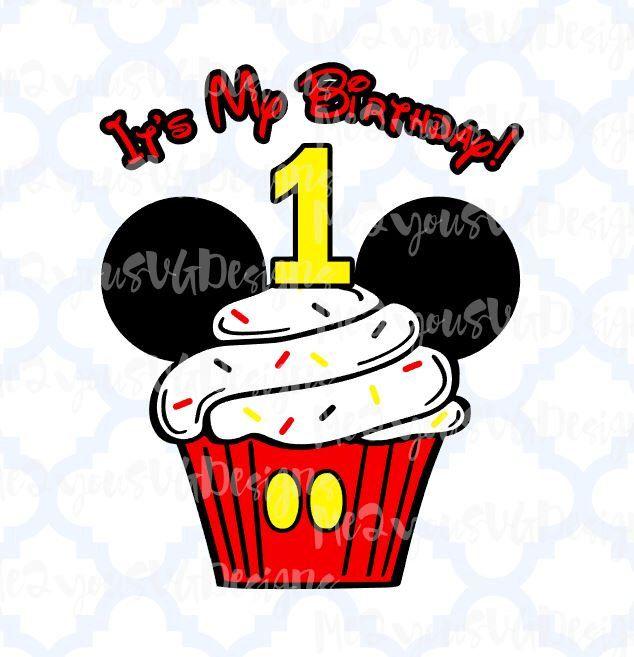 Birthday Mickey Cupcake SVG,EPS,PNG,Studio by Me2YouSvgDesigns on Etsy https://www.etsy.com/listing/277827674/birthday-mickey-cupcake-svgepspngstudio