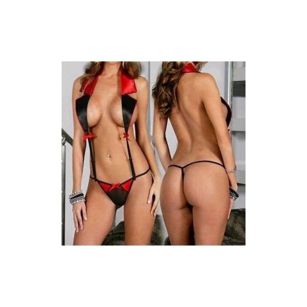 Women Sexy Lapel Secretary Uniform Lingerie Hollow Out Temptation Baby ($3.14) ❤ liked on Polyvore featuring as picture and sexy lingerie