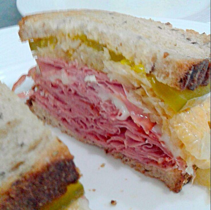 classic NY pastrami sandwich